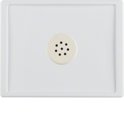 13020069 Centre plate with microphone for interface unit Berker Arsys,  polar white glossy