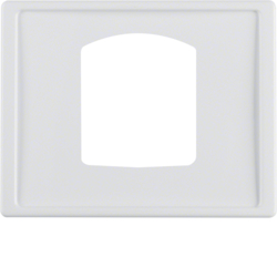 13050069 Centre plate for dropping plug-and-socket connector Berker Arsys,  polar white glossy