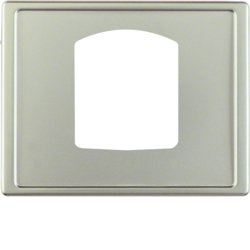13059004 Centre plate for dropping plug-and-socket connector Berker Arsys,  stainless steel matt,  lacquered