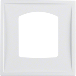 13059919 Centre plate for dropping plug-and-socket connector Berker S.1/B.3/B.7, polar white matt