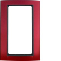 13093012 Frame with large cut-out Berker B.3, Aluminium red/anthracite matt,  aluminium anodised