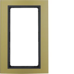 13093016 Frame with large cut-out Berker B.3, Aluminium gold/anthracite matt,  aluminium anodised