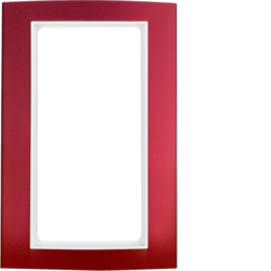 13093022 Frame with large cut-out Berker B.3, Aluminium red/polar white matt,  aluminium anodised