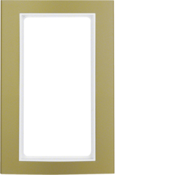 13093046 Frame with large cut-out Berker B.3, Aluminium gold/polar white matt,  aluminium anodised