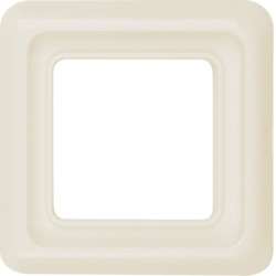 1328 Frame 1gang with sealing,  Splash-protected flush-mounted IP44, white glossy