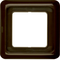 132801 Frame 1gang with sealing,  Splash-protected flush-mounted IP44, brown glossy