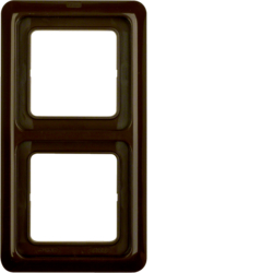 132901 Frame 2gang with sealing,  Splash-protected flush-mounted IP44, brown glossy