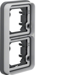 13293515 Frame 2gang vertical for flush-mounted installation with sealing,  Berker W.1, light grey matt