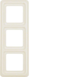 1330 Frame 3gang with sealing,  Splash-protected flush-mounted IP44, white glossy