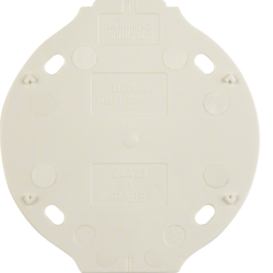 133119 Base plate 1gang,  self-extinguishing Serie 1930, polar white