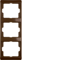 13330001 Frame 3gang vertical Berker Arsys,  brown glossy