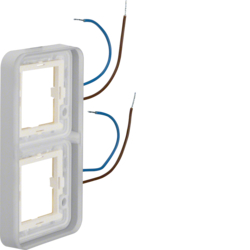 13393512 Frame 2gang,  vertical,  illuminated 230 V,  for housing surface-mounted Berker W.1, white
