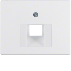 14070069 Centre plate for FCC socket outlet Berker Arsys,  polar white glossy