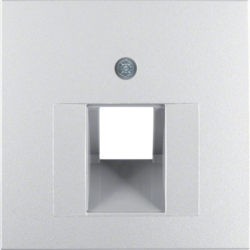 14071404 Centre plate for FCC socket outlet Berker S.1/B.7, aluminium,  matt,  lacquered