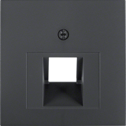 14071606 Centre plate for FCC socket outlet Berker S.1/B.3/B.7, anthracite,  matt
