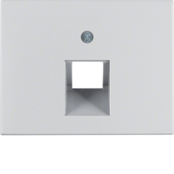 14077003 Centre plate for FCC socket outlet Berker K.5, Aluminium,  aluminium anodised