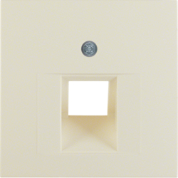 14078982 Centre plate for FCC socket outlet Berker S.1, white glossy