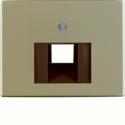 14080001 Centre plate for FCC socket outlet Berker Arsys,  light bronze matt,  aluminium lacquered