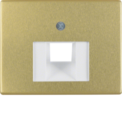 14080002 Centre plate for FCC socket outlet Berker Arsys,  gold matt,  aluminium anodised