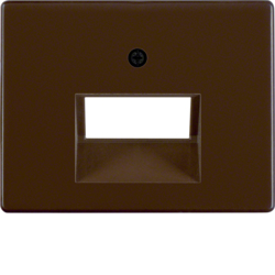 14090001 Centre plate for FCC socket outlet 2gang Berker Arsys,  brown glossy
