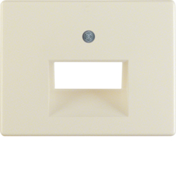 14090002 Centre plate for FCC socket outlet 2gang Berker Arsys,  white glossy