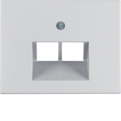 14097003 Centre plate for FCC socket outlet 2gang Berker K.5, Aluminium,  aluminium anodised