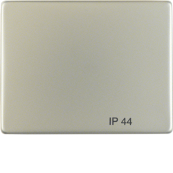 "14241004 Rocker with imprint ""IP44"" Berker Arsys IP44, stainless steel,  metal matt finish"