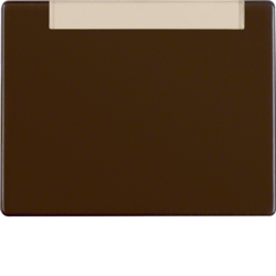 14260001 Rocker with labelling field,  Berker Arsys,  brown glossy