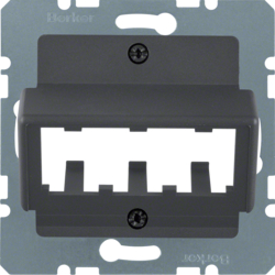 14271606 Central plate for 3 MINI-COM modules anthracite,  matt