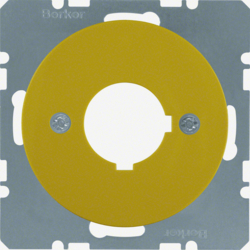 14322006 Centre plate with installation opening Ø 22.5 mm Berker R.1/R.3/R.8, yellow glossy