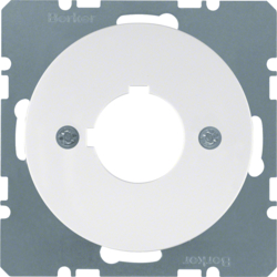 14322089 Centre plate with installation opening Ø 22.5 mm Berker R.1/R.3/R.8, polar white glossy
