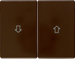 14350101 Rocker 2gang with imprinted arrow symbol Berker Arsys,  brown glossy
