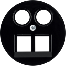 14452045 Centre plate for FCC/TV socket outlet Berker R.1/R.3/R.8