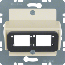 146102 Central plate for Reichle&De-Massari double module Communication technology,  white glossy