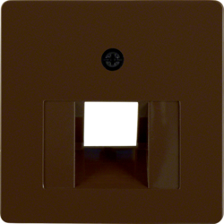 146801 Central plate for FCC socket outlet Communication technology,  brown glossy