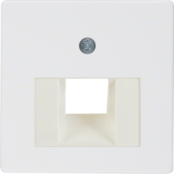 146809 Central plate for FCC socket outlet Communication technology,  polar white glossy