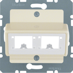 147202 Central plate for Reichle&De-Massari single modules Communication technology,  white glossy