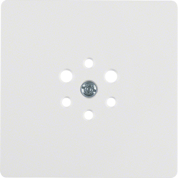 147409 Central plate for 6pole socket outlet polar white glossy