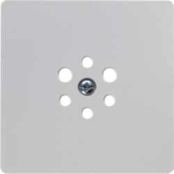 14741909 Central plate for 6pole socket outlet Accessories,  polar white,  matt/velvety