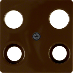 148301 Central plate for aerial socket 4hole (Hirschmann) Communication technology,  brown