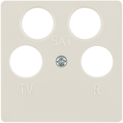148402 Central plate for aerial socket 4hole (Ankaro) Communication technology,  white glossy