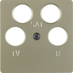 148411 Central plate for aerial socket 4hole (Ankaro) light bronze matt,  lacquered