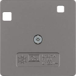 149604 50 x 50 mm centre plate for RCD protection switch System 50 x 50 mm,  stainless steel matt,  lacquered