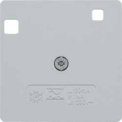 14961404 50 x 50 mm centre plate for RCD protection switch System 50 x 50 mm,  aluminium,  matt,  lacquered
