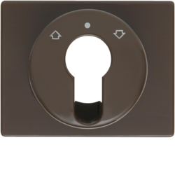 15040011 Centre plate for key push-button for blinds/key switch Berker Arsys,  brown glossy