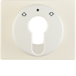 15040012 Centre plate for key push-button for blinds/key switch Berker Arsys,  white glossy