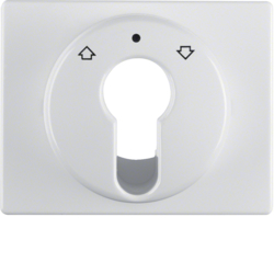 15040079 Centre plate for key push-button for blinds/key switch Berker Arsys,  polar white glossy