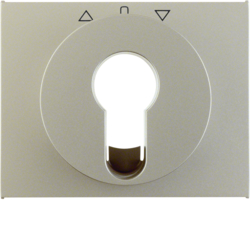 15047104 Centre plate for key push-button for blinds/key switch Berker K.5, stainless steel matt,  lacquered