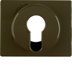 15050011 Centre plate for key switch/key push-button Berker Arsys,  brown glossy