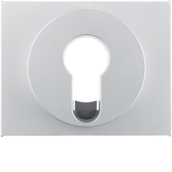 15057003 Centre plate for key switch/key push-button Berker K.5, aluminium,  matt,  lacquered